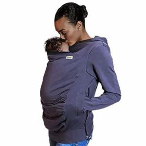 10 Boba Hoodie, Large Baby Carrier Grey Cover Hooded Sweatshirt