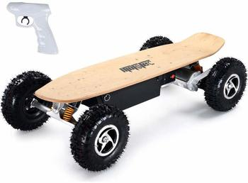 3. MotoTec 1600W Dirt Electric Skateboard Dual Motor, Black, Large
