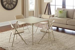 4. COSCO Folding Table and Chair Set, 5-Piece
