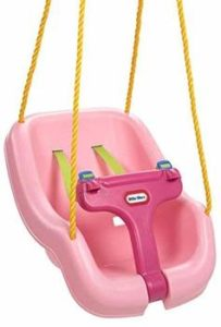 4. Little Tikes 2-in-1 Snug and Secure Swing, Pink