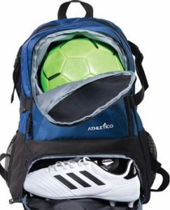 5. Athletico national backpack for basketball, football,
