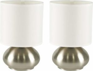 5. Touch Lamp Set Touch On Bedside Table Nightstand for Bedroom