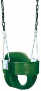 8. Bucket Toddler Swing with Chains