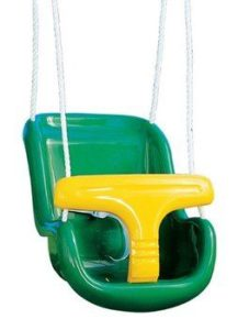 9. Creative Playthings Molded Toddler and Infant Swing with Rope