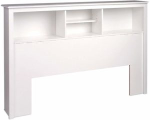 #1 Prepac Full Queen White Bookcase Headboard