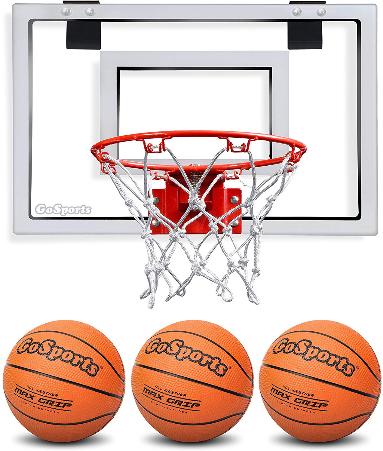 #10. GoSports Basketball Hoop with Pump & 3 Premium Basketballs