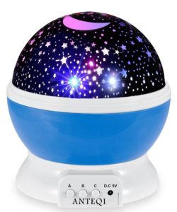 #10.Night Light Projector Romantic Room Rotating Night Lamp Star