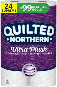 #2. Quilted Northern Ultra Plush Premium White Toilet Paper, 3 Ply, 24 Count, Bath Tissue…