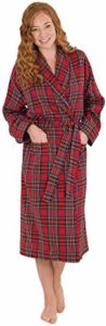 #4 PajamaGram Cotton Flannel Robe Womens
