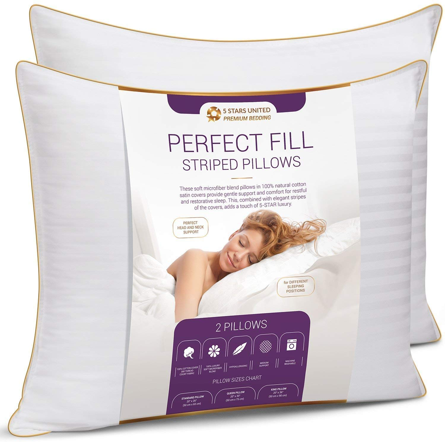 4. King Size Bed Pillows 20x36