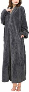 #6 Soojun Women's Waffle Fleece Bathrobe