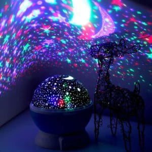 #7. LED Night Lighting Elecstars Lamp – for Bedroom, Moon, Sky, Star,
