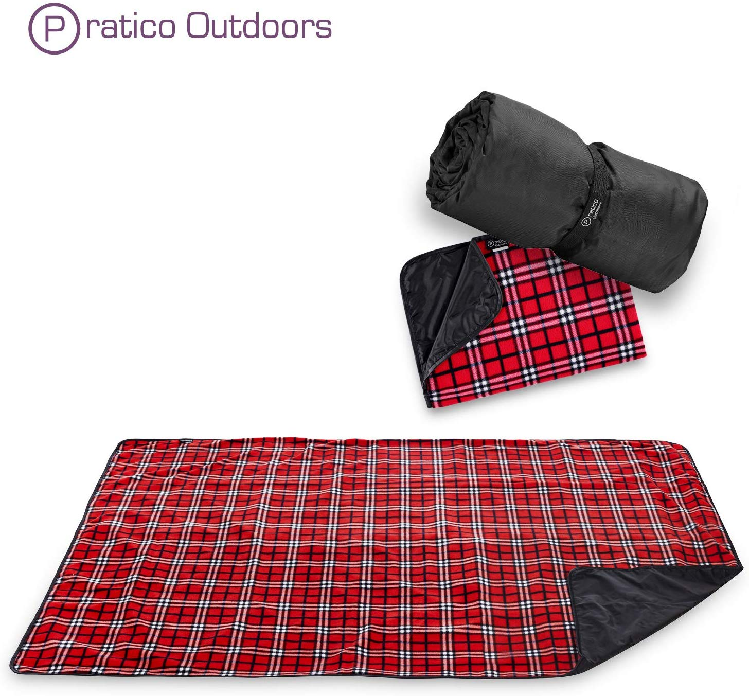 #8. Premium Extra Large Outdoor Picnic Blanket, Red Color,