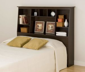 #9 Prepac Tall Slant-Back Bookcase Headboard