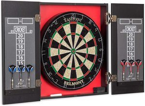 2. EastPoint Sports Belmont Bristle Dartboard and Cabinet Set