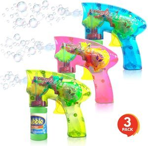7. ArtCreativity Light Up Bubble Blaster Gun Set