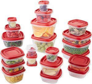 1. Rubbermaid Food Storage Containers, 42 Pieces