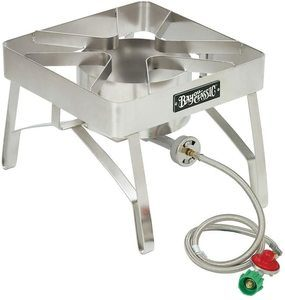 #10. Bayou Classic SS84 Brew Stainless Steel Stove with Windscreen