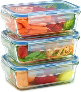 10. Glass Meal Prep Containers for Food Storage and Prep