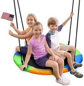 10. Juegoal 40 Inch Saucer Tree Swing