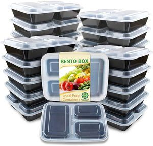 3. Enther Meal Prep Container, 20 Pack, black